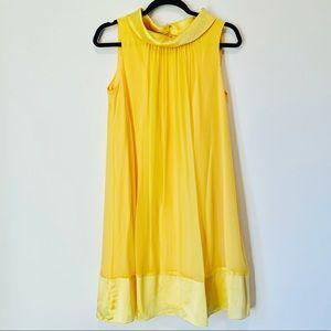 Maggie London Yellow Silk Sleeveless Swing Dress